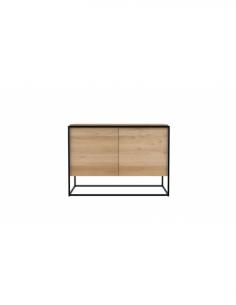 Chêne Monolit buffet - 2 portes - Noir 110 x 45 x 78