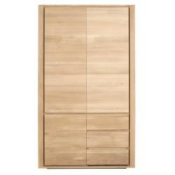 Chene Shadow Penderie-3 portes / 2 tiroirs-115-60-20cm-Nouveau