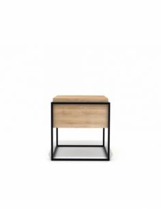 Chêne Monolit bout de canapé M - Noir 47 x 47 x 51
