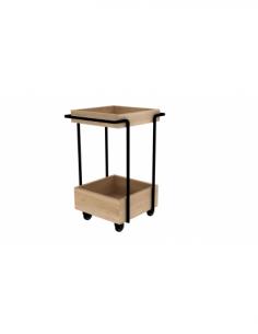 Chêne bar cart Kompagnon 53 x 46 x 78