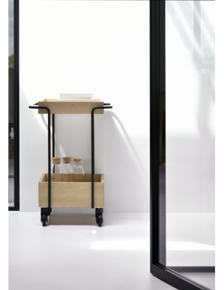 Chêne bar cart Kompagnon 53 x 46 x 78