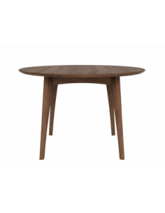 Noyer table Osso ronde haute 120 x 120 x 75