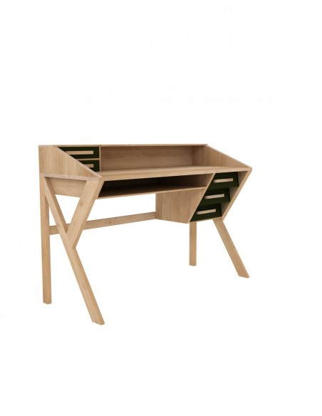 Bureau Origami - Noir - 5 portes 135 x 55 x 94