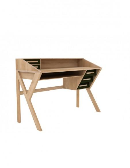 Bureau Origami - Noir - 5 Tiroirs 135 x 55 x 94cm