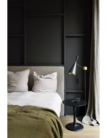 Chêne bout de canapé Torsion - Noir 50 x 50 x 50