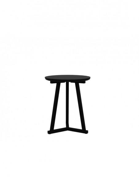 Chêne bout de canapé Tripod - Noir 46 x 46 x 56