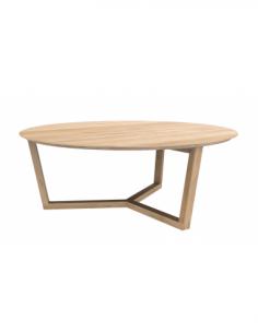 Chêne table basse Tripod 96 x 96 x 36