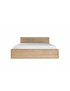 Chêne Nordic II lit - avec tiroirs - sans lattes - matelas 180/200  204 x 219 x 95
