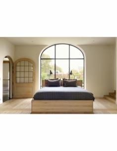 Chêne Nordic II lit - avec tiroirs - sans lattes - matelas 160/200