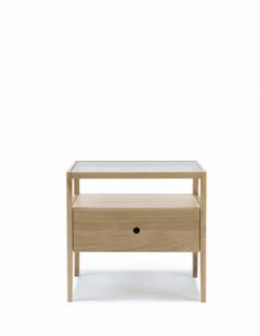 Chêne Spindle chevet - 1 tiroir 55 x 35 x 52