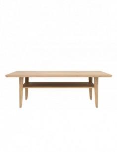 Chêne table basse Simple 120 x 74 x 39