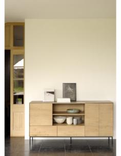 Chêne Whitebird buffet - 3 portes - 2 tiroirs  180 x 45 x 90