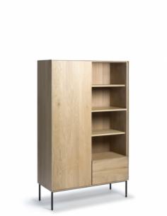 Chêne Whitebird armoire - 1 porte - 1 tiroir  110 x 45 x 178