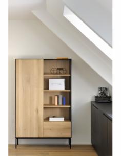 Chêne Blackbird armoire - 1 porte - 1 tiroir  110 x 45 x 178
