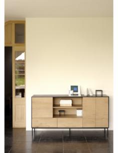 Chêne Blackbird buffet - 3 portes - 2 tiroirs  180 x 45 x 90