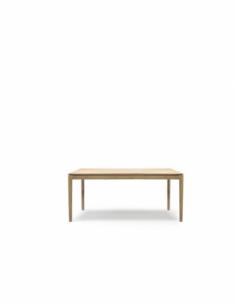 Chêne table à rallonge Bok 140/220  x 90 x 76