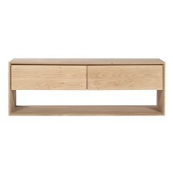 Chene Nordic meuble TV-1 porte abattante / 1 tiroir-120-46-45cm-Nouveau