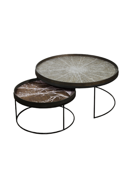 Round Tray Table Set - Low - XL