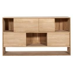 Chene Nordic buffet-4 portes coulissantes-160-46-92cm-Nouveau