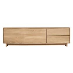 Chene Wave meuble TV-2 porte / 1 porte abattante / 1 tiroir-210-46-60cm-Nouveau