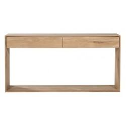 Chene Nordic console-2 tiroirs-160-40-85cm-Nouveau
