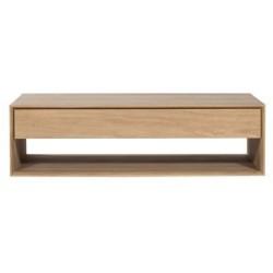Chene Nordic table basse-1 tiroir/ 1 tiroir-80-80-35cm-Nouveau